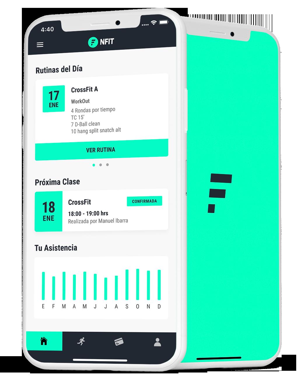 Vista referencial de la App de NFIT